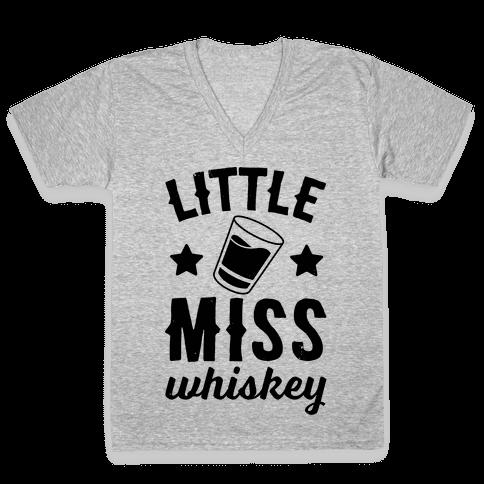 Little Miss Whiskey V-Neck Tee Shirt