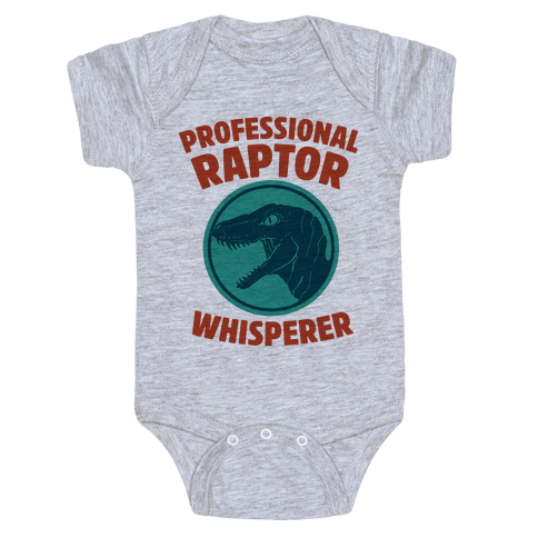 Professional Raptor Whisperer Baby Onesy