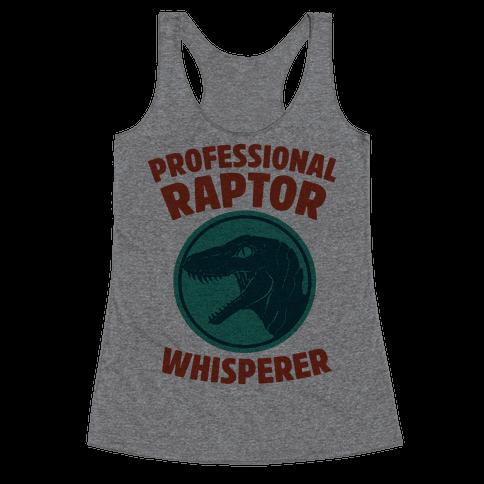 Professional Raptor Whisperer Racerback Tank Top