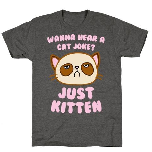 Wanna Hear A Cat Joke? Just Kitten T-Shirt