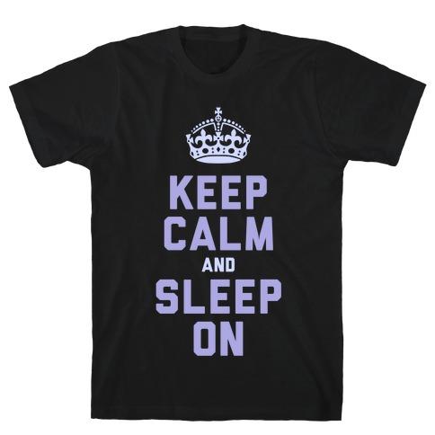 Keep Calm and Sleep On (Purple) T-Shirt