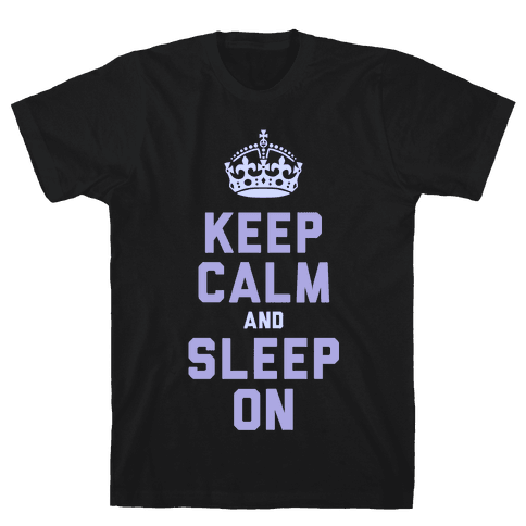 Keep Calm and Sleep On (Purple) Mens T-Shirt