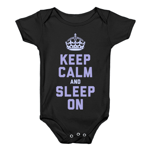 Keep Calm and Sleep On (Purple) Baby Onesy