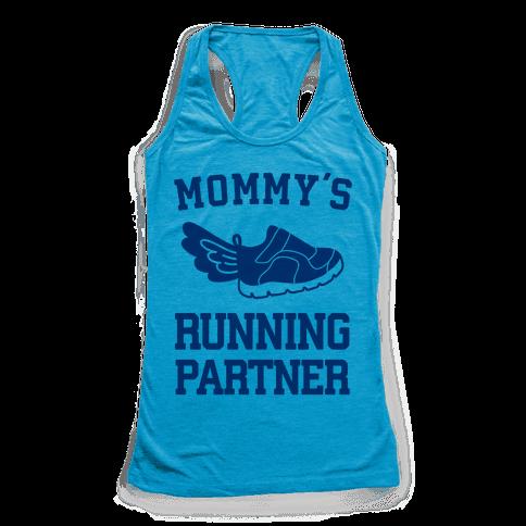 Mommy's Running Partner Racerback Tank Top