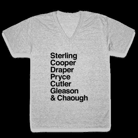 Mad Men Alphabet V-Neck Tee Shirt