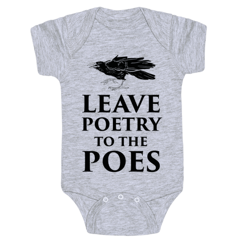 fa0a74c47 Edgar Allan Poe Poetry Baby Onesies