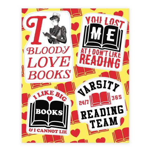 Book Lover Sticker and Decal Sheet