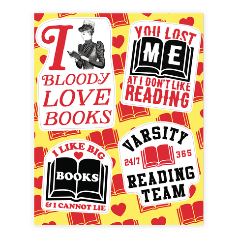 Book Lover  Sticker/Decal Sheet