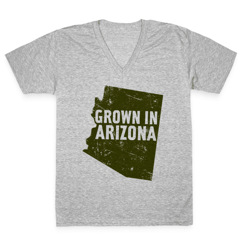 Grown In Arizona V-Neck Tee Shirt