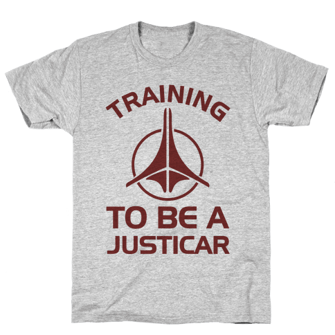 Training To Be A Justicar Mens T-Shirt