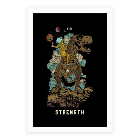 Dinosaur Strength Tarot Poster