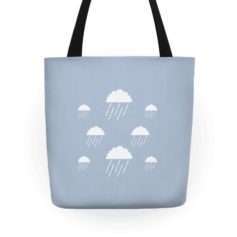 Minimalist Rain Clouds Tote