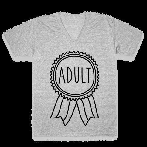Adult Award V-Neck Tee Shirt