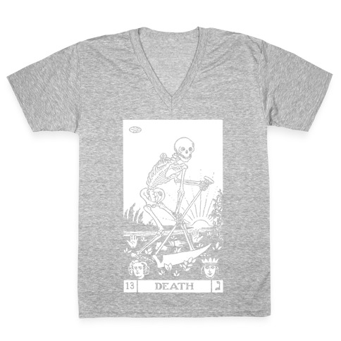 Death Tarot V-Neck Tee Shirt