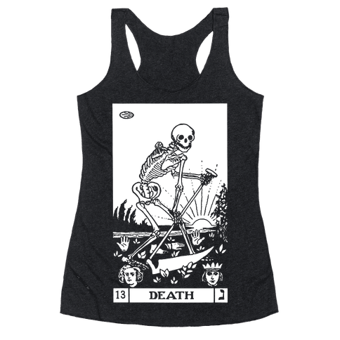 Death Tarot Racerback Tank Top