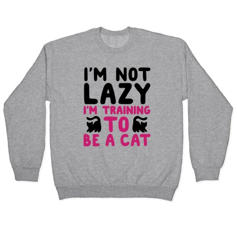 Training To Be a Cat Pullover