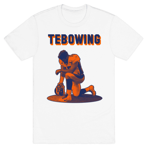 Tebowing Mens T-Shirt