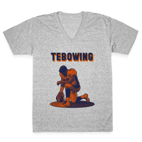 Tebowing V-Neck Tee Shirt