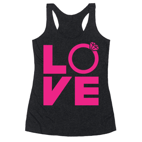 L (Ring) V E Racerback Tank Top