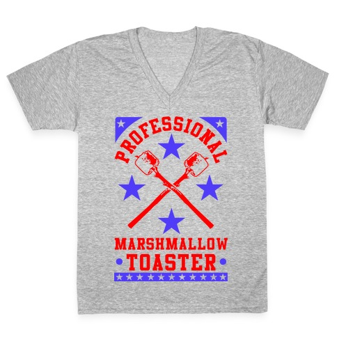Professional Marshmallow Toaster V-Neck Tee Shirt