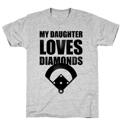 My Daughter Loves Diamonds Vintage (Softball) Mens T-Shirt