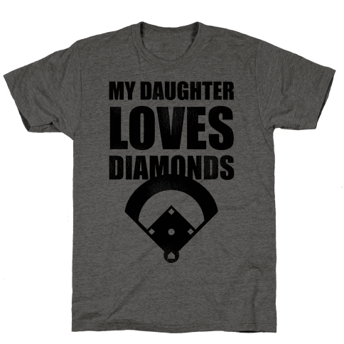 My Daughter Loves Diamonds Vintage (Softball)