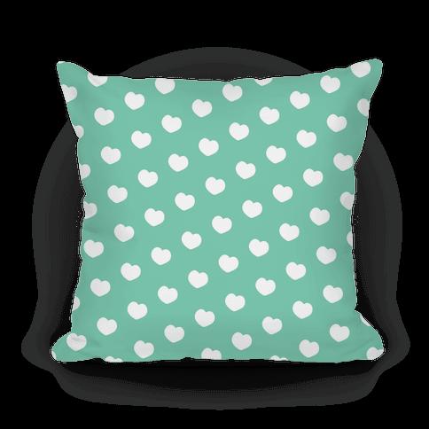 Green Polka Dot Hearts