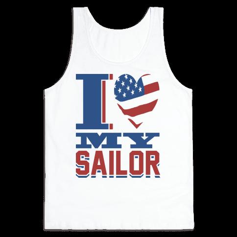 I Love My Sailor Tank Top
