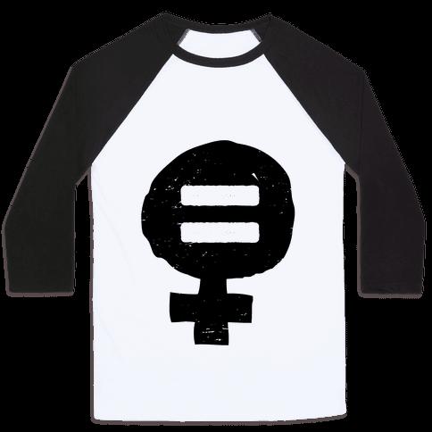 Feminism & Equality Symbol Baseball Tee