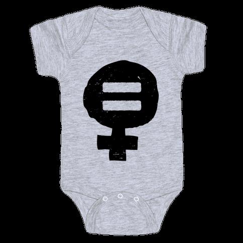 Feminism & Equality Symbol Baby Onesy