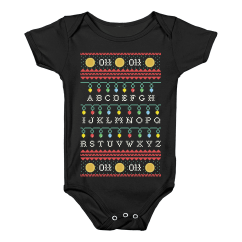 Eleven Ugly Sweater Baby Onesy