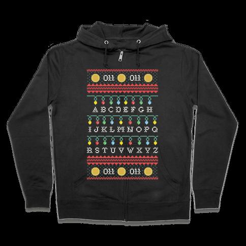 Eleven Ugly Sweater Zip Hoodie