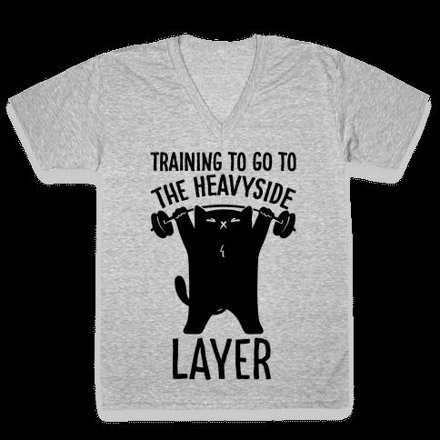 Training To Go To The Heavyside Layer Parody V-Neck Tee Shirt