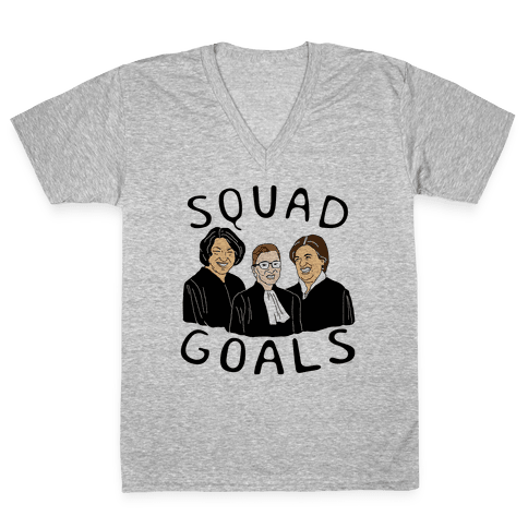 Squad Goals V-Neck Tee Shirt