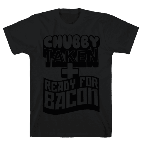 Ready for Bacon (Black) Mens T-Shirt