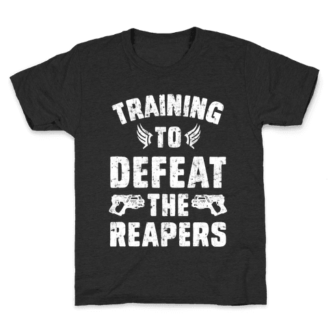 Training To Defeat The Reapers Kids T-Shirt