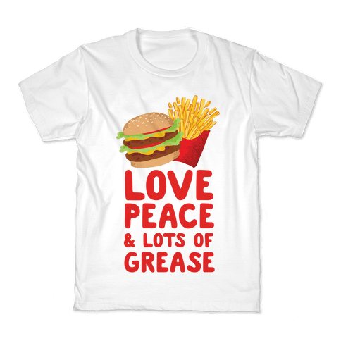 Love, Peace, & Lots of Grease Kids T-Shirt