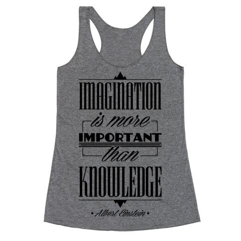 """Imagination"" Albert Einstein Racerback Tank Top"