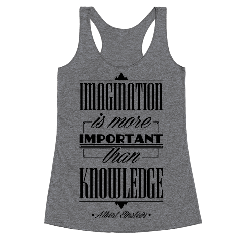 """Imagination"" Albert Einstein Racerback Tank Top"