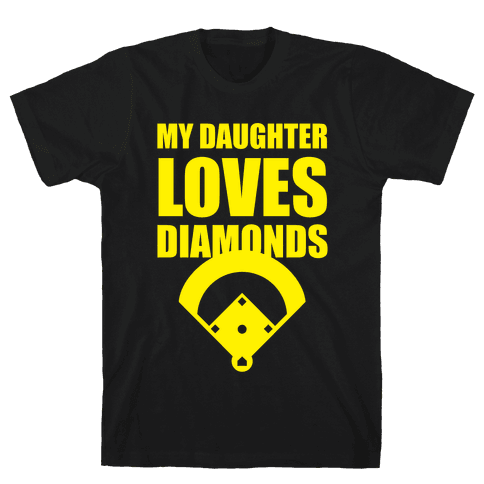 My Daughter Loves Diamonds (Softball) Mens T-Shirt