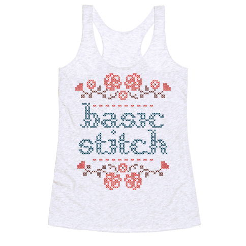 Basic Stitch Racerback Tank Top