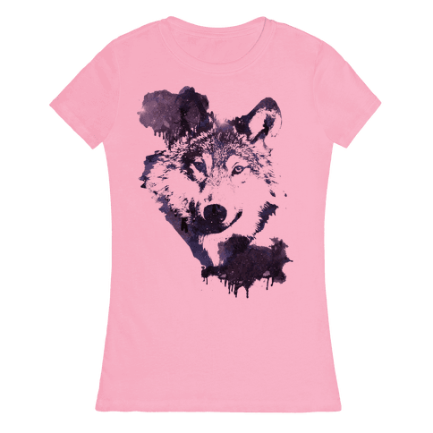 Space Wolf Womens T-Shirt