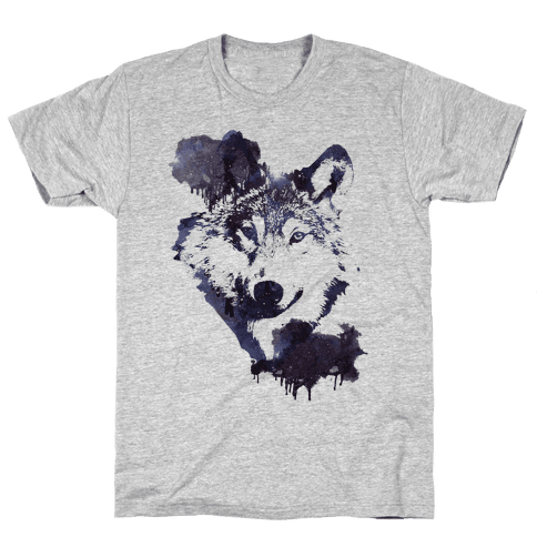 Space Wolf Mens T-Shirt