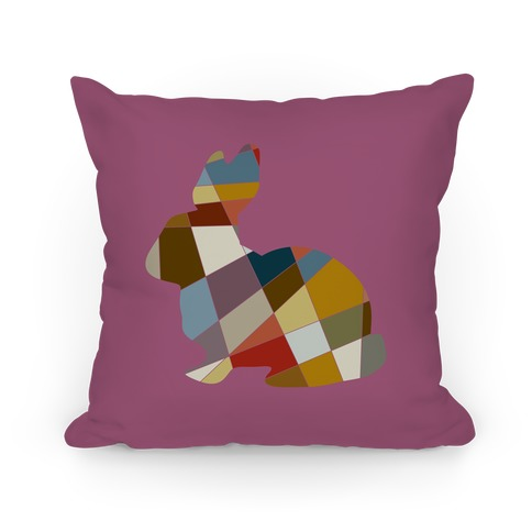 Mosaic Pattern Bunny Pillow