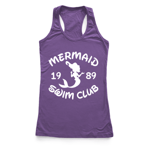 Mermaid Swim Club Racerback Tank Top