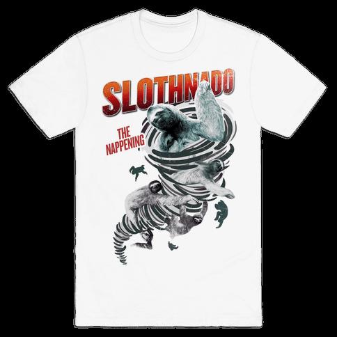 Slothnado: The Nappening Mens T-Shirt