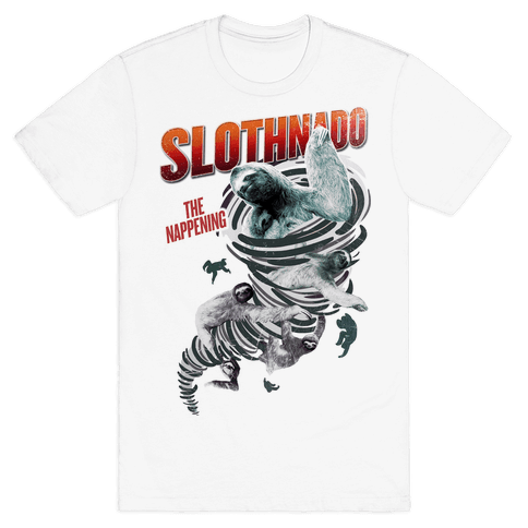 Slothnado: The Nappening Mens T-Shirt