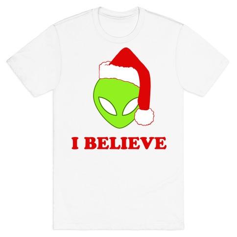 I Believe Christmas Aliens T-Shirt