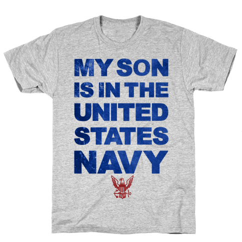 Navy Son Mens T-Shirt
