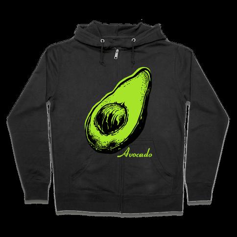 Pop Art Avocado Zip Hoodie